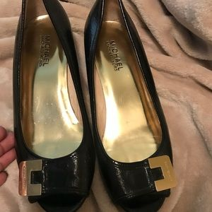Black Michael Kors Small Wedges Size 7.5